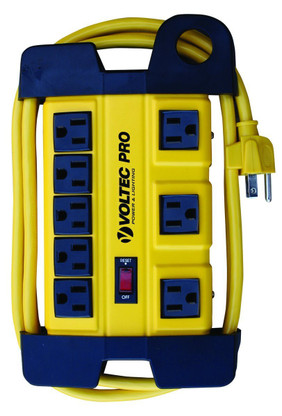 Voltec 11-00227 8-Outlet HD Power Station provides premium power protection for your work bench or jobsite.