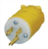 Voltec 12-00225YL Leviton 1447 Male Replacement Head for Industrial Grade Extension Cord Nema 5-15P