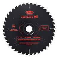 Cuz-D 40T 8.5 In 40 Tooth Tipped Straight Flush Saw Blade