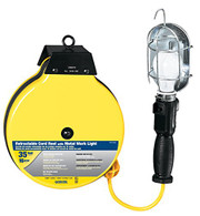 Voltec 07-00253  35-Ft - 16/3 SJTW Metal Guard Worklight Retractable Reel are ideal for the workshop, machine shed, or construction environment.