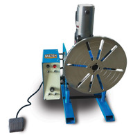 Baileigh WP-750 Welding Positioner has a 770lb capacity in the vertical position and a 385lb capacity in the horizontal position.