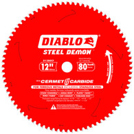 Diablo D1280CF 12 In X 80 Tooth Steel Demon Metal Cutting Saw Blade