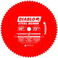 Diablo D1472CF 14 In X 72 Tooth Steel Demon Metal Cutting Saw Blade