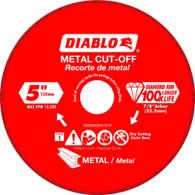 Diablo DDD050DIA101F 5 In Diamond Cut-off Wheel For Metal