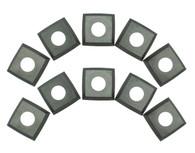 Rikon 25-699 Carbide Insert Cutters Pack 10 - 4-sided 14 x14 x 2mm