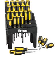 Titan 17203 26 Piece Screwdriver Set
