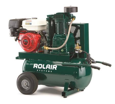 Rolair 8230hk30 9 Hp Honda Gas Portable Belt Drive Air