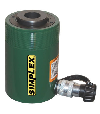 Simplex RC302A Hydraulic Steel Cylinder 30 Ton 2.5 In Stroke Center Hole Single Acting