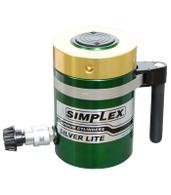 Simplex RAL5010 Hydraulic Aluminum Cylinder 50 Ton 10 In Single Acting Locknut