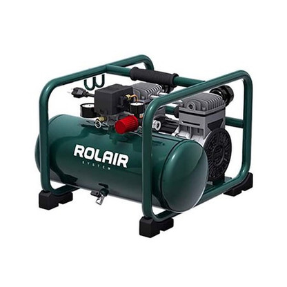 Rolair JC 20 2HP Twin Tank Ultra Quiet 3 Gal Oil Free Air Compressor