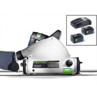 "Festool 201403 TSC 55 Cordless AirStream Track Saw W/ 55"" Track offers all of the great features and functionality of its first-in-class TS 55 REQ corded tracksaw, but without the restraints of having a cord."