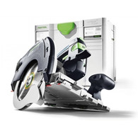 Festool 561756 HK 55 Cross-Cutting Track Saw PLUS provides a new miter-saw system for more independence and combines precision and efficiency with a high level of user-friendliness, optimized ergonomics and ease of use.