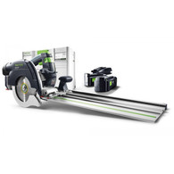 Festool 201374 HKC 55 Cordless AirStream Track Saw PLUS-FSK in combination with the FSK cutting rail, provide a new miter-saw system for more independence and combines precision and efficiency with a high level of user-friendliness, optimized ergonomics and ease of use