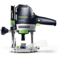 Festool 574692 OF 1400 EQ Router is designed for increased control and reduced fatigue with power switch and speed control at the fingertips.