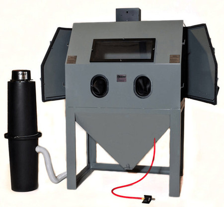 Cyclone A4800 Abrasive Sandblasting Side Opening Cabinet With DC-1500 Dust Collector