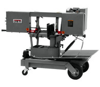 Jet 424465 10IN Horizontal/Vertical Dual Mitering Portable Band Saw with Coolant System, 1HP, 115V, 1 Ph