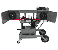 Jet 424463 10IN Horizontal/Vertical Dual Mitering Portable Band Saw , 1HP, 115V, 1 Ph