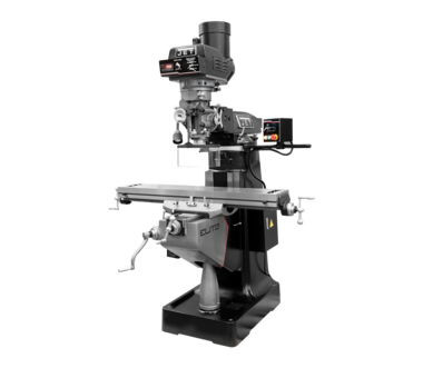Jet 894410 Elite EVS-949 Mill with 3-Axis ACU-RITE 303 (Quill) DRO and Servo X, Y, Z-Axis Powerfeeds and USA Air Powered Draw Bar