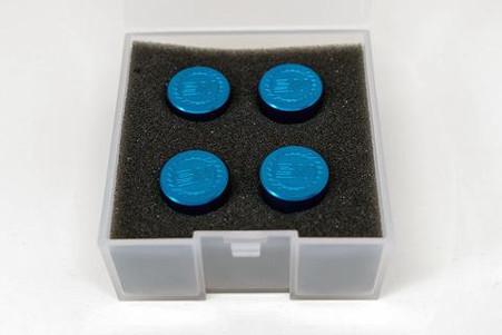 Seneca Woodworking SWSD01B4 Blue Anodized Stowaway Dogs For Festool MFT, 4-Pack
