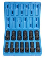 Grey Pneumatic 1313UMD Metric Universal Socket Set Deep 1/2 In Drive