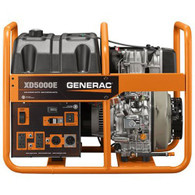 Generac 6864 5000 Watt Electric Start Diesel Portable Generator, CARB