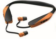 Walker's GWP-SF-NHE-BT-BLZ Razor XV Neckworn Retractable Earbuds - Blaze Orange