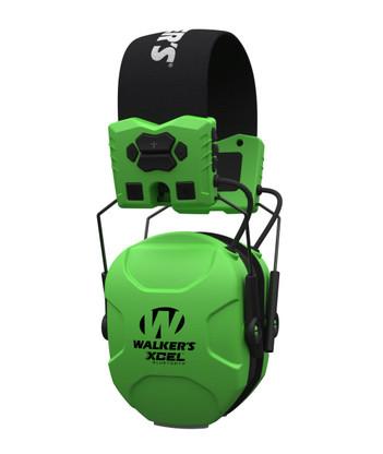 Walker's GWP-SF-XSEM-BT-HVG XCEL Digital Ear Muffs - High Visibility Green