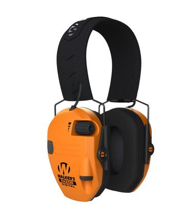 Walker's GWP-SF-RSEM-BLZ Razor Slim Profile Ear Muff - Blaze Orange