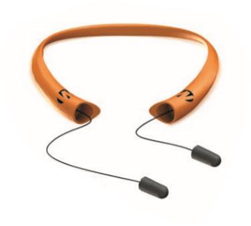 Walker's GWP-SF-NWPAS-BLZ Passive Neckband Retractable Ear Plugs - Blaze Orange