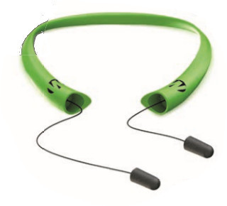 Walker's GWP-SF-NWPAS-HVG Passive Neckband Retractable Ear Plugs - High Visibility Green