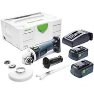 Festool 575348 AGC 18-115 18V Cordless 4-1/2 In Grinder Plus 5.2Ah Kit