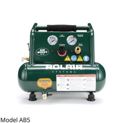 Rolair AB5 0.5 HP 115 Volt 0.7 CFM at 90 PSI Air Compressor