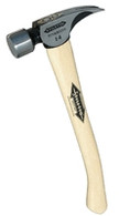 Stiletto Ti14SC Titanium Titan Remodeler Framer 14 Ounce Smooth Face Curved Hickory Handle 18 Inch