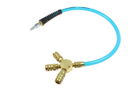 Coilhose Pneumatics FP0624C-15X 24 Inch hose with 3 way Pigtail