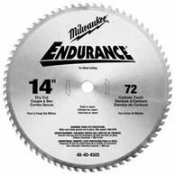 "Milwaukee 48-40-4505 14"" 72T Circular Saw Blade For Metal"