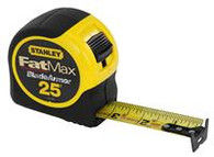 "Stanley 33-725 25' x 1-1/4"" FatMax Tape Rule Reinforced w/ Blade Armor Coating"