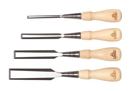 Stanley 16-791 Sweetheart 4 pc Socket Chisel Set w/ Tool Roll