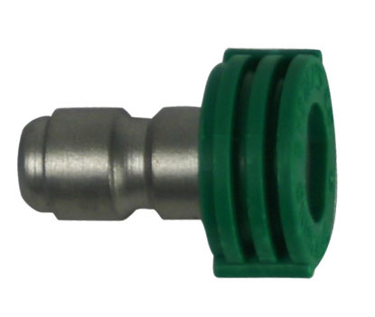 Forney Industries 75155 Quick Connect Flushing Spray Nozzle Green 25° x 4.5 1/4""