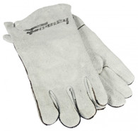 Forney 55200 Gray Leather Lined Welding Gloves Large