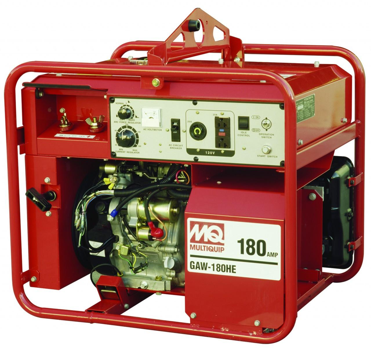 Multiquip Gaw180hea Recoil Start 3000 Watt Honda Gx340