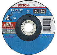 Bosch GW27M450 4-1/2 X 1/4 X 7/8 Grinding Wheel for Metal A30T-BF