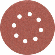Porter Cable 735801000 5 in. 8-hole 100 Grit Hook and Loop Sanding Disc - 100 Pack