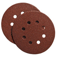 100 Pack!  Porter Cable 735802200 5 in. 8-hole 220 Grit Hook and Loop Sanding Disc