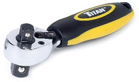 Titan 12051 3/8 In and 1/2 In Drive Dual-Head Stubby Combination Ratchet
