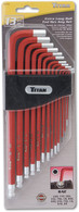 Titan 12713 13 Piece Extra Long Arm Ball Tip SAE Hex Key Set