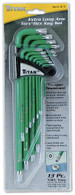 Titan 12715 13 Pc Low Profile Extra Long Tamper Resistant Torx Key Set