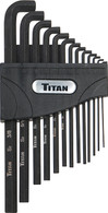 Titan 12737 13 Piece Sae Low Profile Hex Key Extractor Set