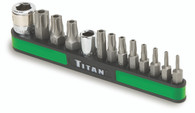 Titan 16113 13 Piece Tamper Resistant Torx Star Bit Set