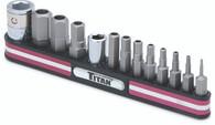 Titan 16135 13 Piece Fractional Tamper Resistant Hex Bit Set