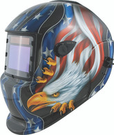Titan 41265 Solar Powered Auto Darkening Welding Helmet American Eagle